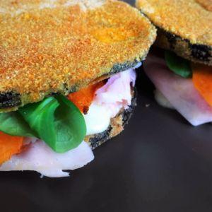 Federica - Sandwich di melanzane con cotto zucca e scamorza