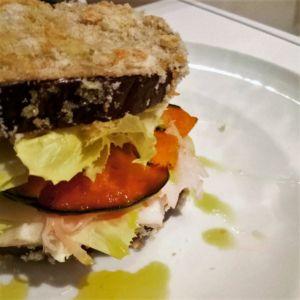 Manuela - Sandwich di melanzane con cotto zucca e scamorza