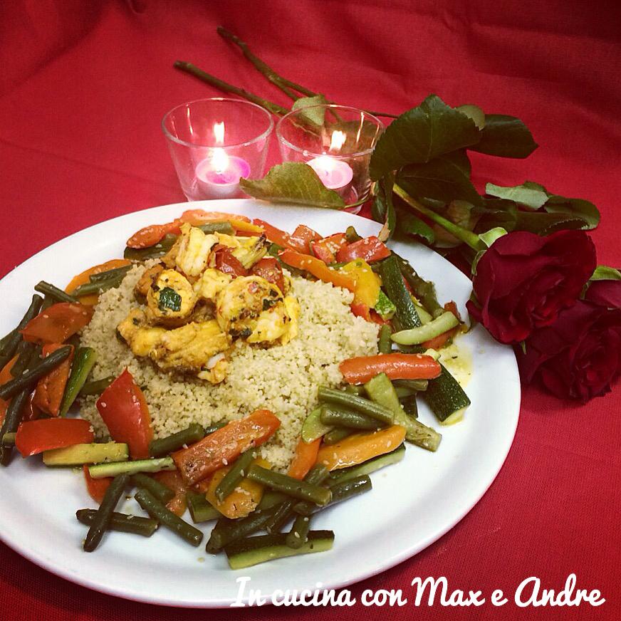 Couscous di pesce e verdure