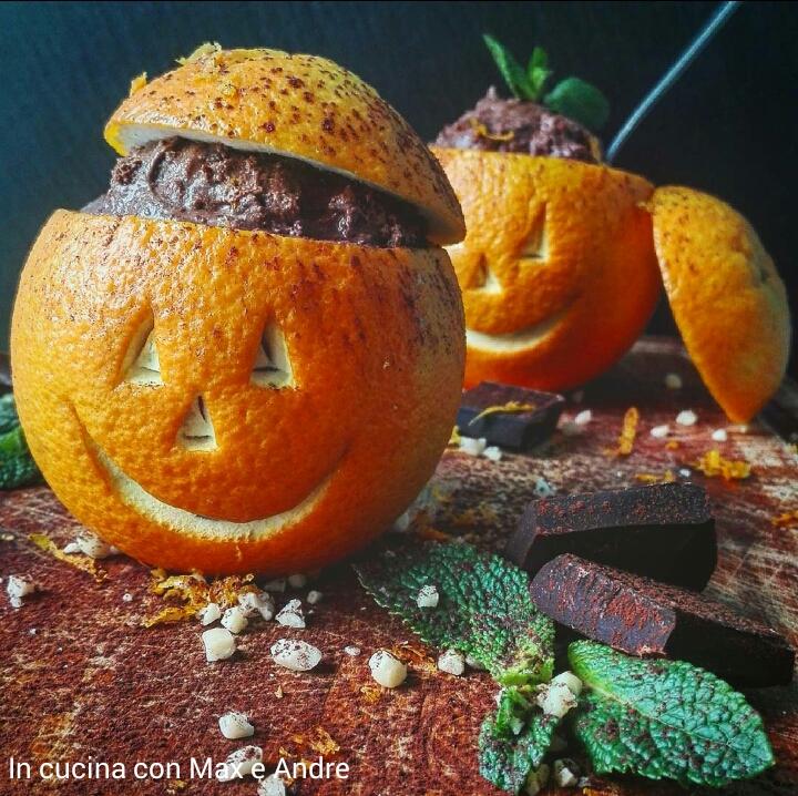 Mousse al fondente e arancia per Halloween