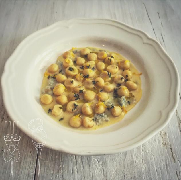 Gnocchetti di patate con gorgonzola timo e limone