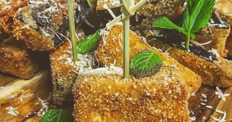 Melanzane fritte alla cannella, pepe e menta