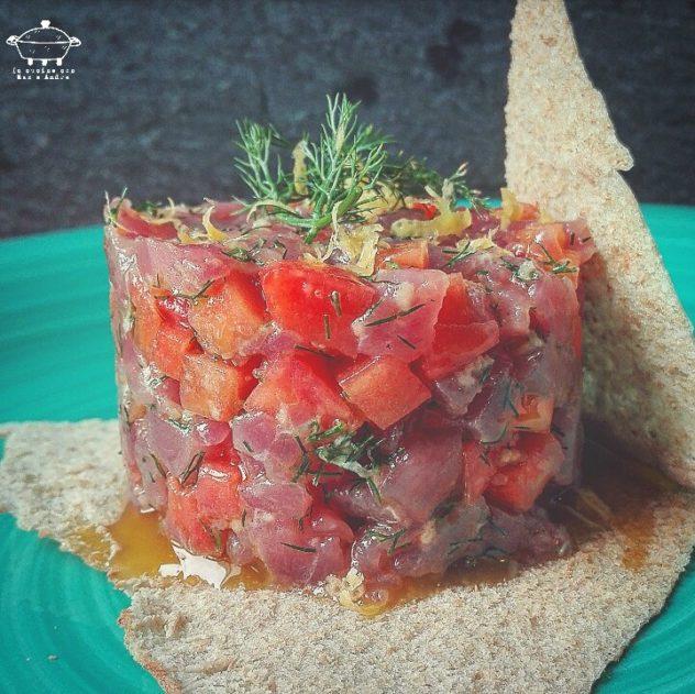 Tartare di tonno, papaia e finocchietto