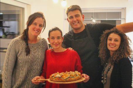 Lezioni di pizza a casa di Chiara e Stefano