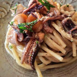 Federica - Spaghetti alla carbonara e calamari