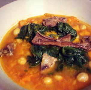 Isabella - zuppa di zucca , ceci e porcini
