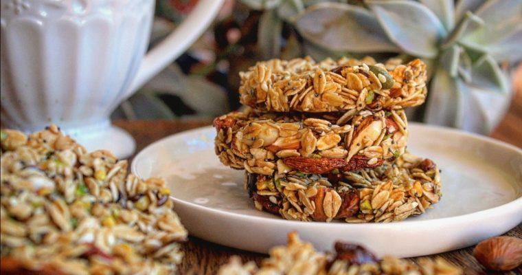 Gallette ai cereali con bacche di goji
