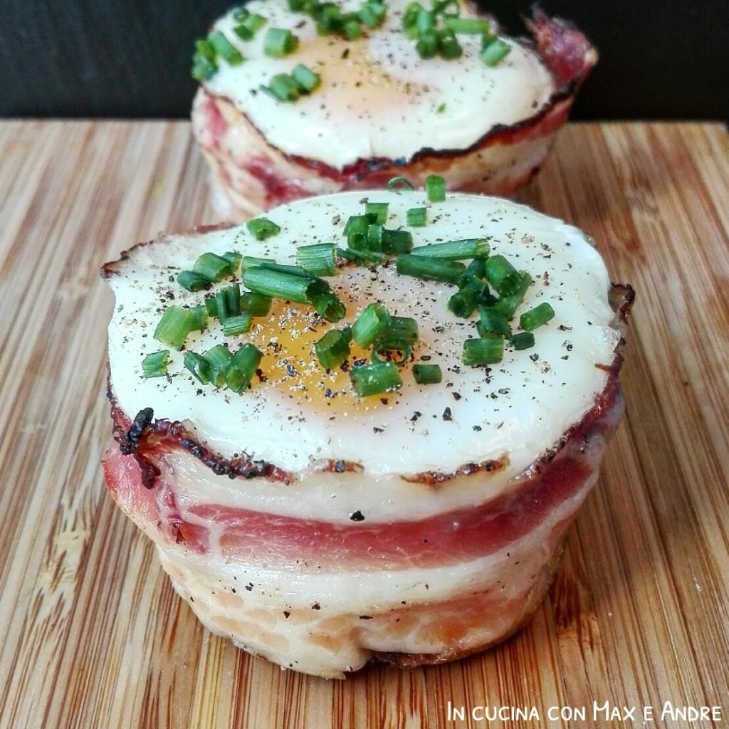 Muffin al bacon