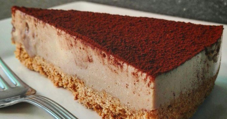 Cheesecake al caffè, cioccolato e cannella