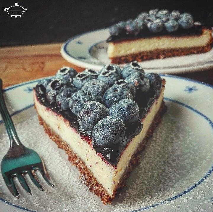 Cheesecake ai mirtilli e lime