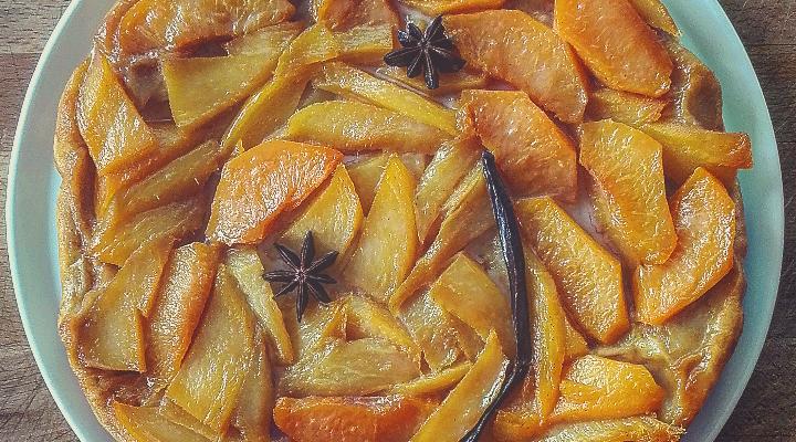 Tarte tatin mango e percoca al profumo di vaniglia e anice stellato