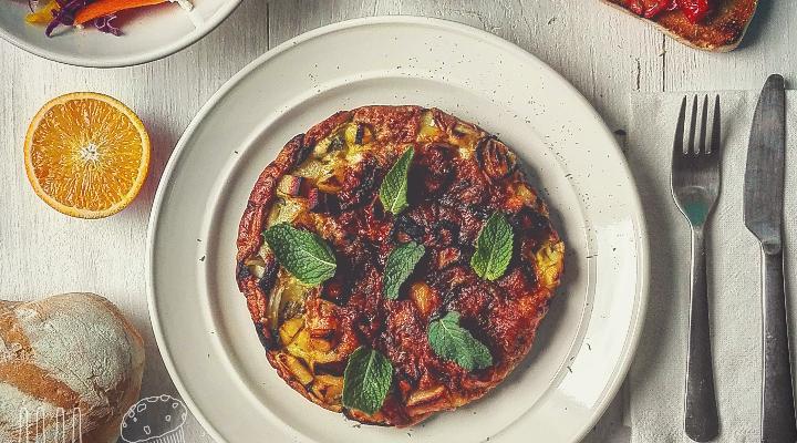 Tortilla di patate con menta e curry