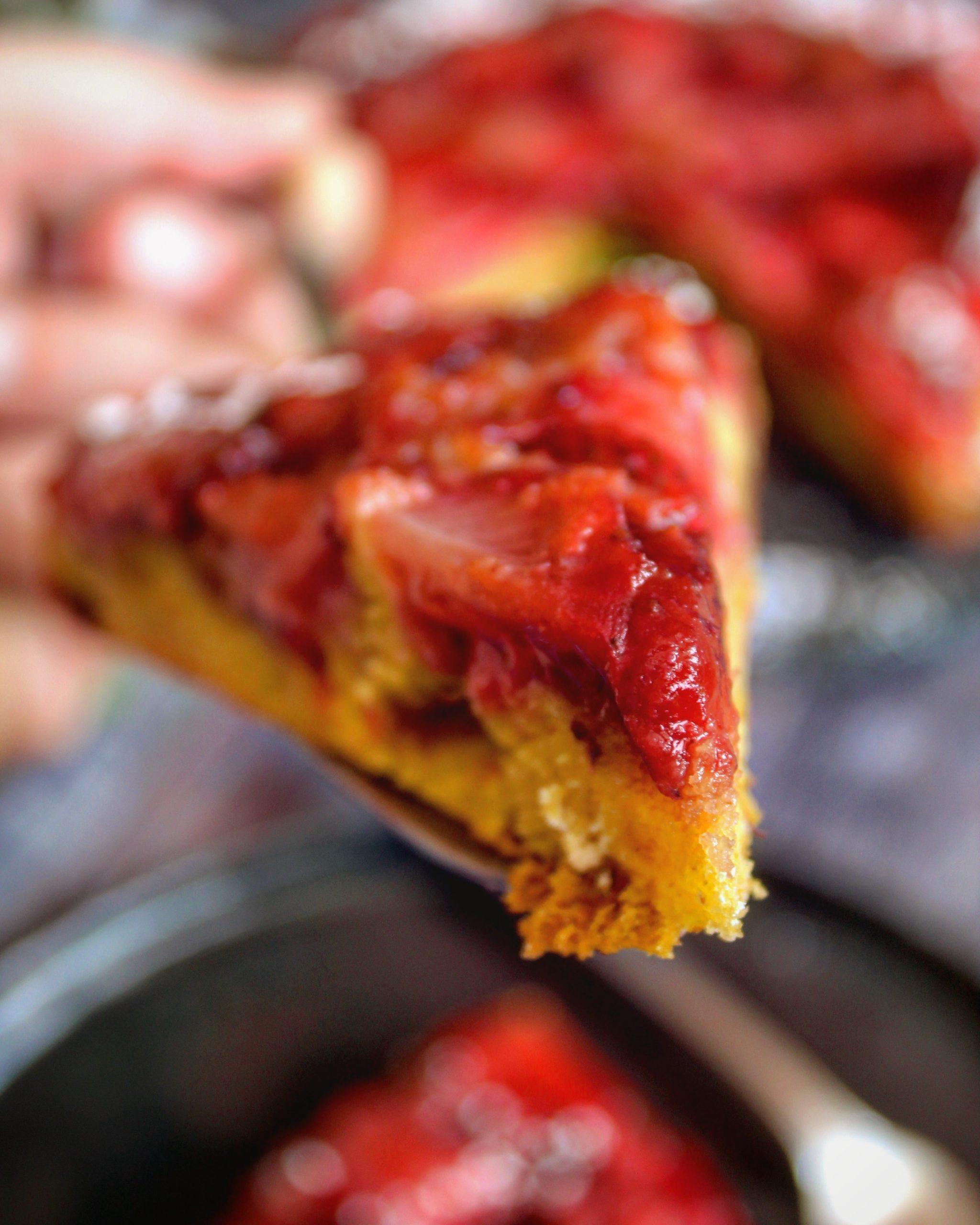 Torta rovesciata alle fragole
