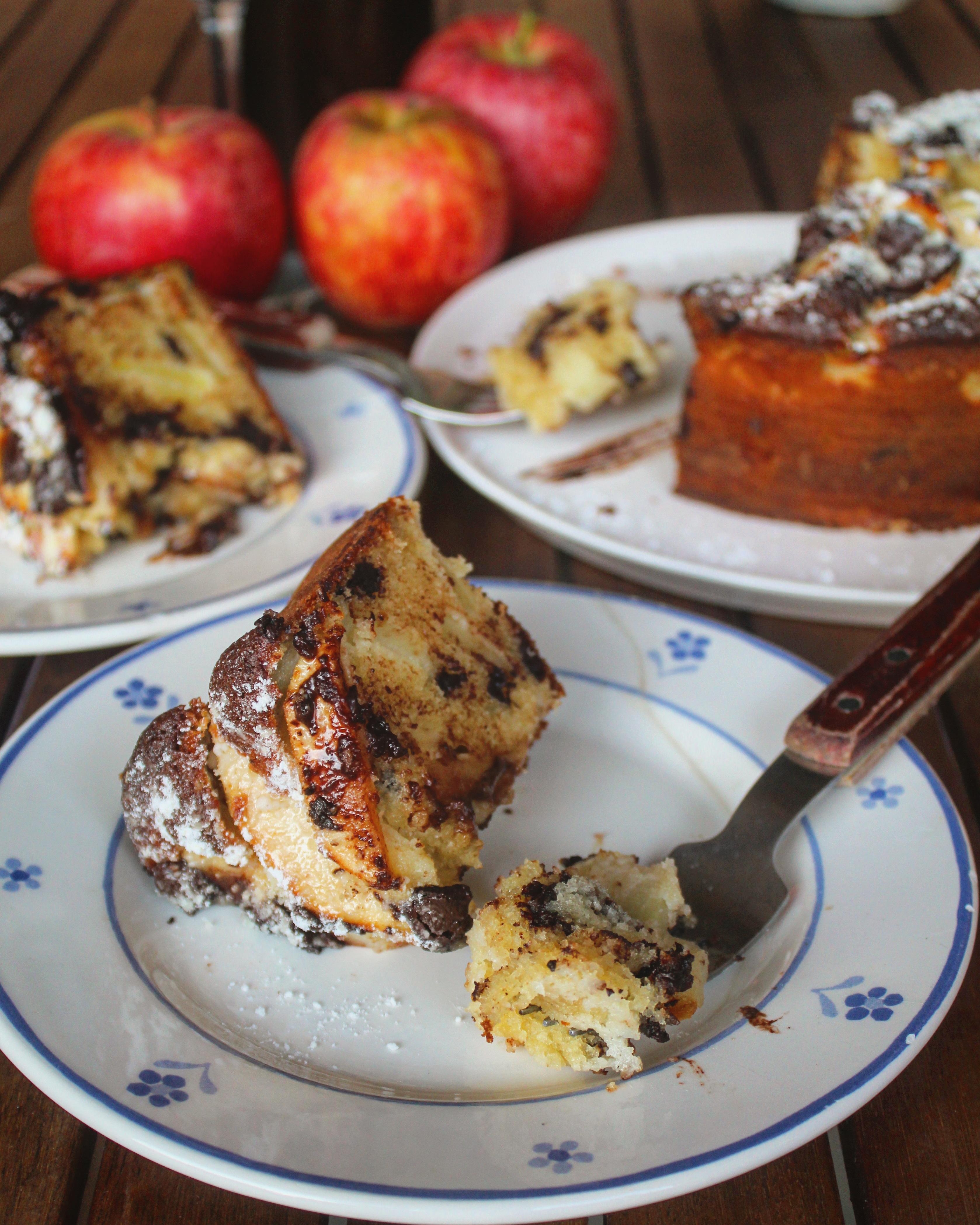 Torta alle mele e cioccolato