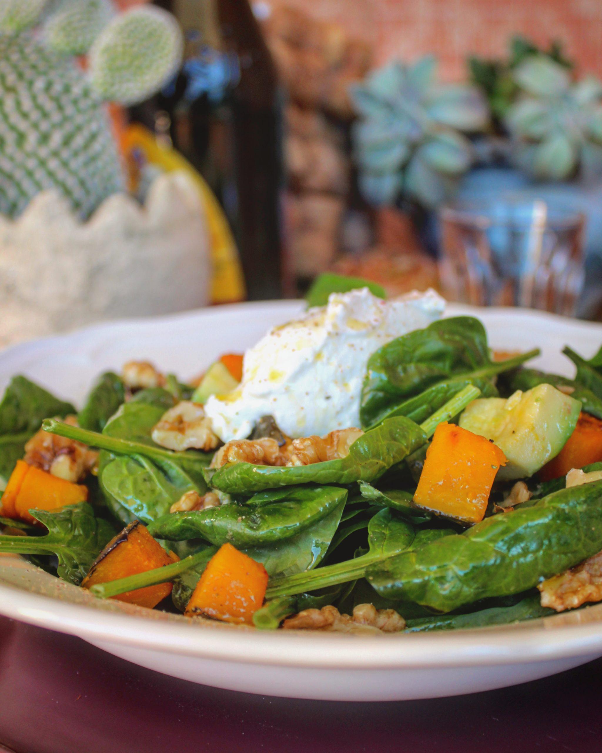 Insalata di spinacino avocado e zucca