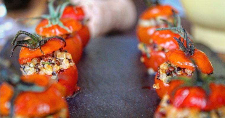 Pomodorini ripieni di quinoa