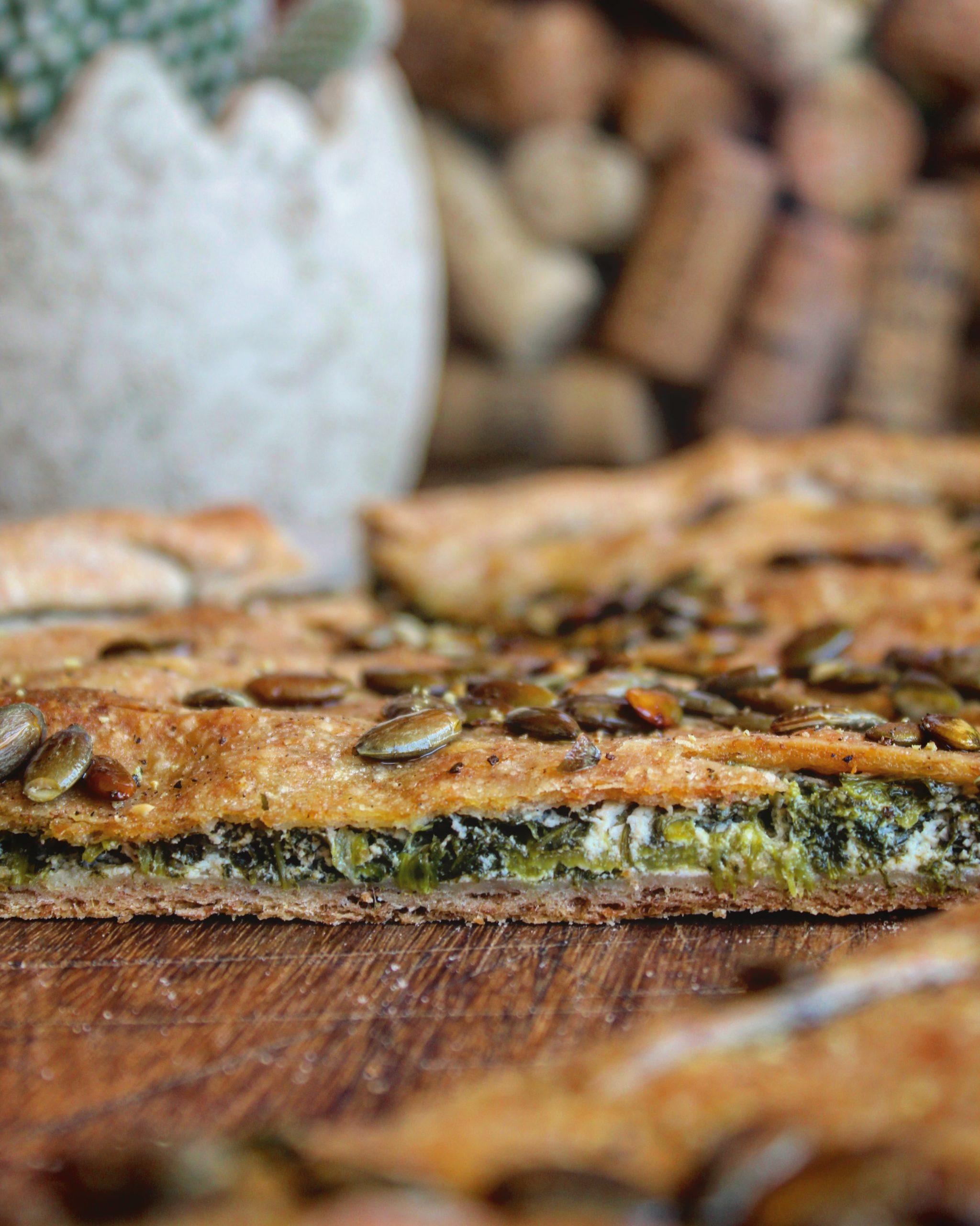Quiche di segale con spinaci e ricotta