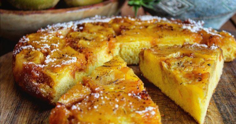 Torta morbida rovesciata all'ananas