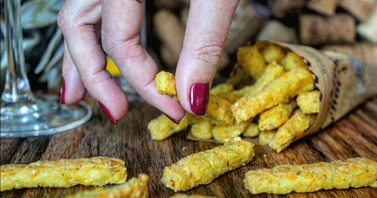 Chips con farina ceci e mais